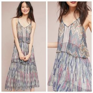 Anthropologie Meadow Rue Josie Tiered Maxi Dress